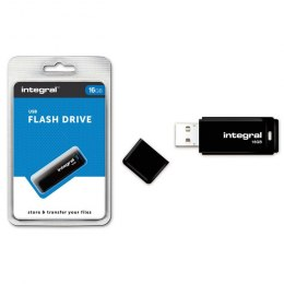 INTEGRAL Pendrive Black (16GB | USB 2.0) czarny